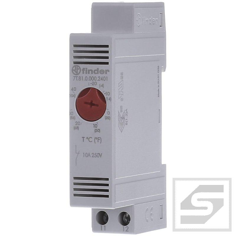 Termostat 7T.81.0.000.2401 FINDER NC;-20..40st.C;10A;250V AC;do szafy