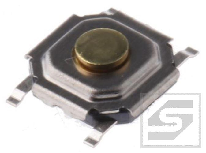 Tact Switch SKQGABE010;SMD;w.1.5mm; 1.57N;50mA;12VDC;k.5.2x5.2mm;ALPS