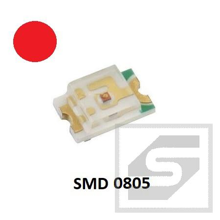 Dioda LED SMD 0805 czerw. EVERLIGHT 3817212011 17-21SURC/S530-A2/TR8